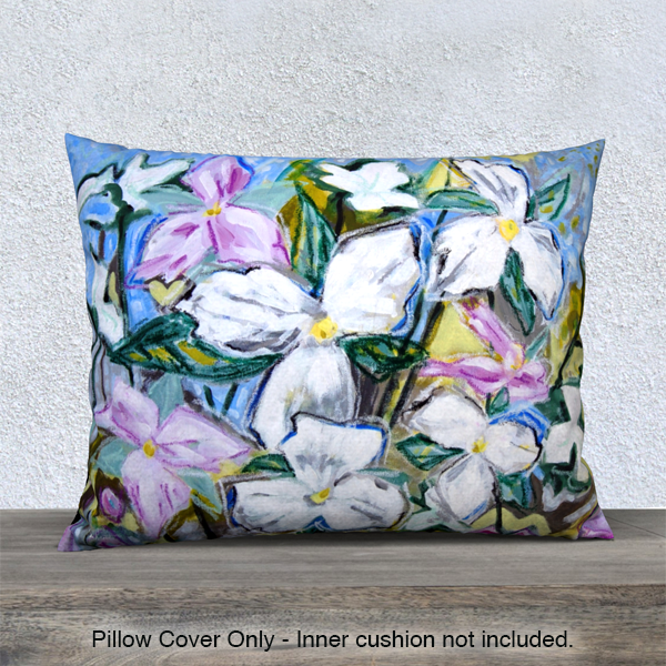 Trilliums Pillow Cover