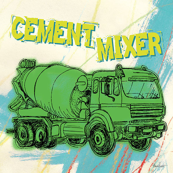 Trucks: Cement Mixer, Blue