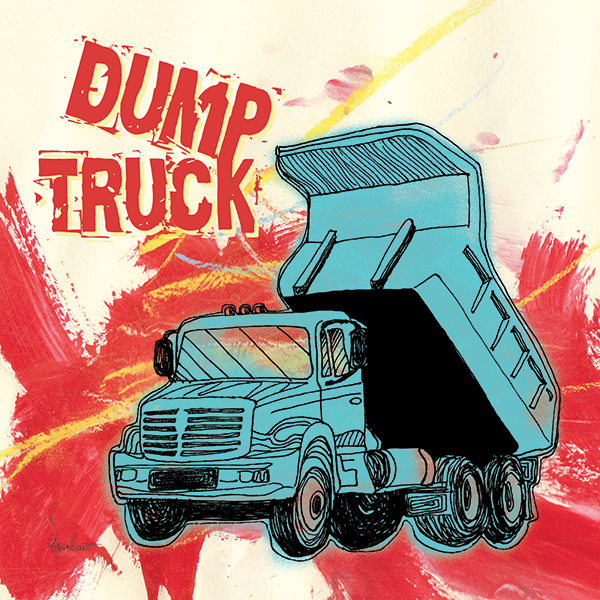 Dump Truck Pillow Cover