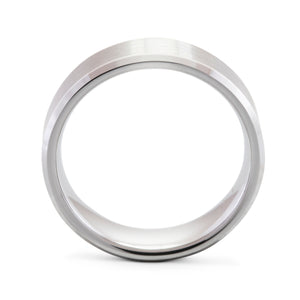 Humble 8mm Brushed Titanium Ring - Mens Wedding Band elgntdesigns