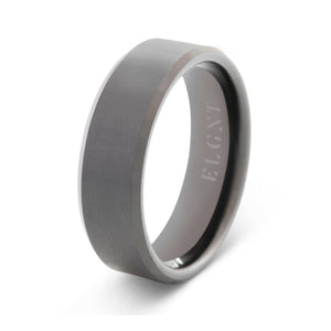 Faithful 8mm Black Tungsten Ring - Mens Wedding Band elgntdesigns