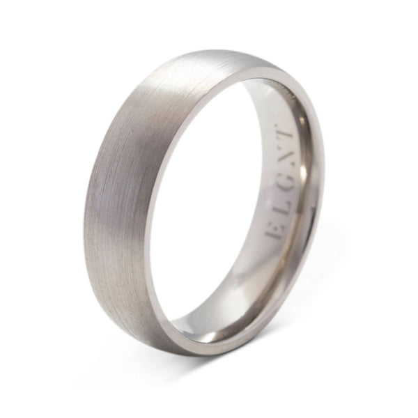 Resilience 6mm Titanium Ring - Mens Wedding Band elgntdesigns