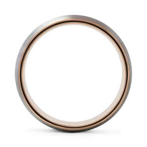 Impeccable 8mm Silver & Rose Gold Tungsten Ring - Mens Wedding Band elgntdesigns