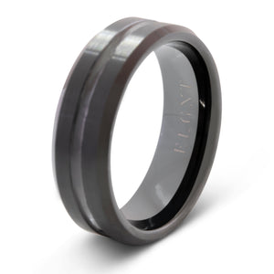 Passion 8mm Black Tungsten Ring - Mens Wedding Band elgntdesigns