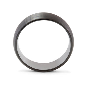 Loyalty 8mm Black Tungsten Ring - Mens Wedding Band elgntdesigns