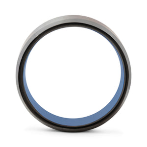 Integrity 8mm Blue & Black Tungsten Ring - Mens Wedding Band elgntdesigns