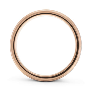 Honest 4mm Brushed Silver and Rose Gold Tungsten Ring