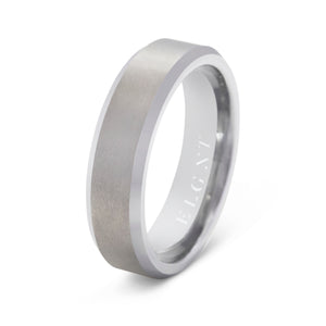 Discipline 6mm Silver Tungsten Ring - Mens Wedding Band elgntdesigns