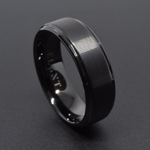 Alpha 8mm Black Tungsten Ring