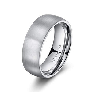 Visionary 8mm Brushed Titanium Ring