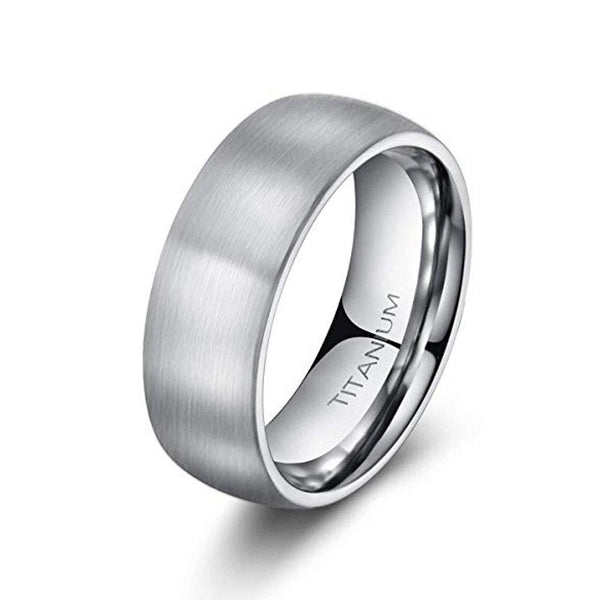 Visionary 8mm Brushed Titanium Ring - Mens Wedding Band elgntdesigns