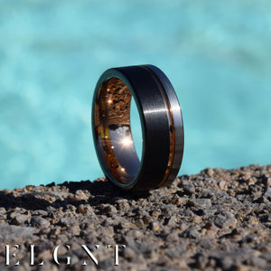 Potential 8mm Tri-Color Tungsten Ring - Mens Wedding Band elgntdesigns