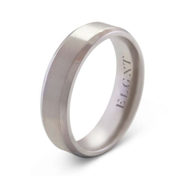 Humble 6mm Titanium Ring - Mens Wedding Band elgntdesigns