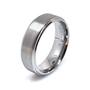 Committed 8mm Brushed Silver Tungsten Ring