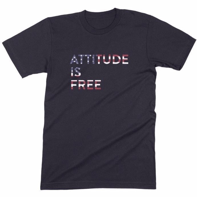Men's American Flag Three Line Tee