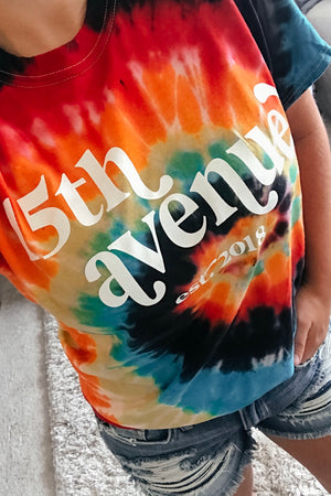 15th Avenue Logo Tee | Boutique Logo | Graphic Tees | Boutique Graphic Tees | Tie dye t-shirts