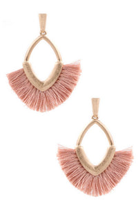 Small Tassel Earrings ~Pink~