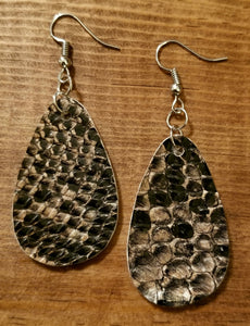 Snake Faux Leather Earrings