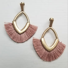 Load image into Gallery viewer, Small Tassel Earrings ~Pink~