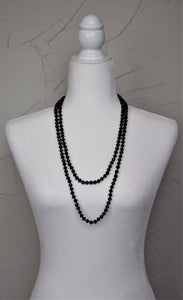 Glass Bead Necklace ~Black~