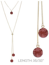 Load image into Gallery viewer, Druzy Stagger Necklace ~Rose Gold~
