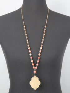 Gold Geometric Pendant Necklace