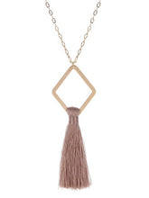 Load image into Gallery viewer, Tassel Pendant Necklace ~Dusty Pink~