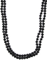 Load image into Gallery viewer, Glass Bead Necklace ~Black~