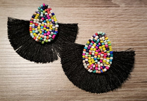 Multi-color Beaded Earrings