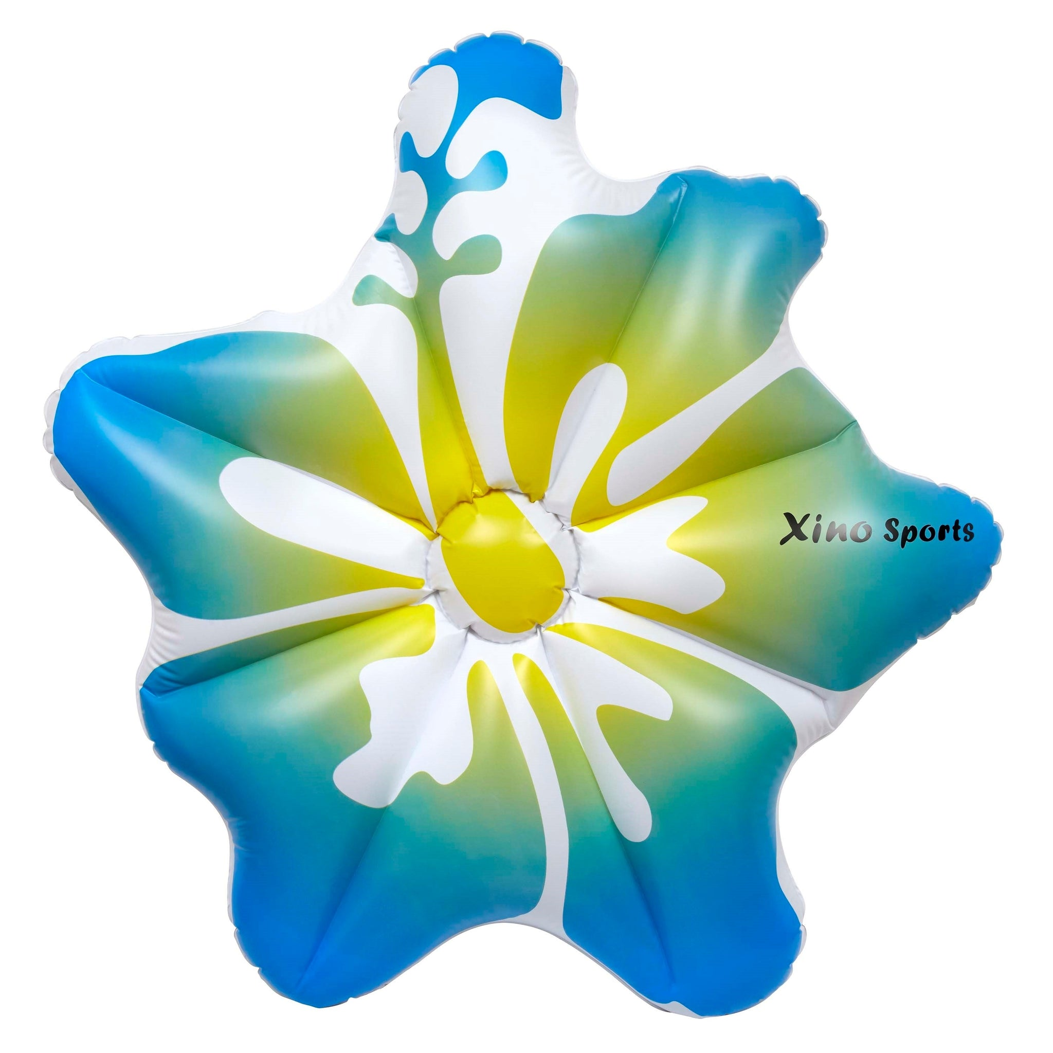 Xino Sports Deluxe Hibiscus Pool Floatie, Will Make Every Lady Look Like a Princess, Watch It Become Pool Party Favorite, Comes in Pink and Blue Color - Xino Sports