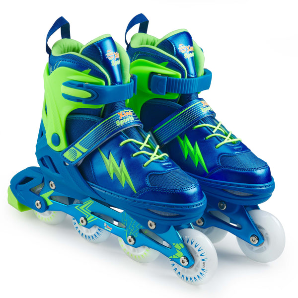 XinoSports Adjustable Roller Skates for Children - Featuring PU Wheels, Awesome-Looking, Safe and Durable Roller Skates, Perfect for Boys and Girls! - Xino Sports