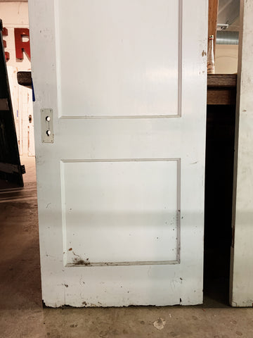 "Antique Solid Wood Two Panel Door - 79 1/8"" x 30"""