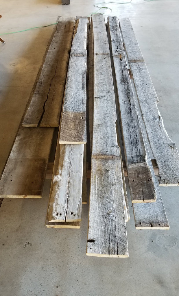 Salvaged Wood from Wyoming Sheep Ranch - Up to 15' Long