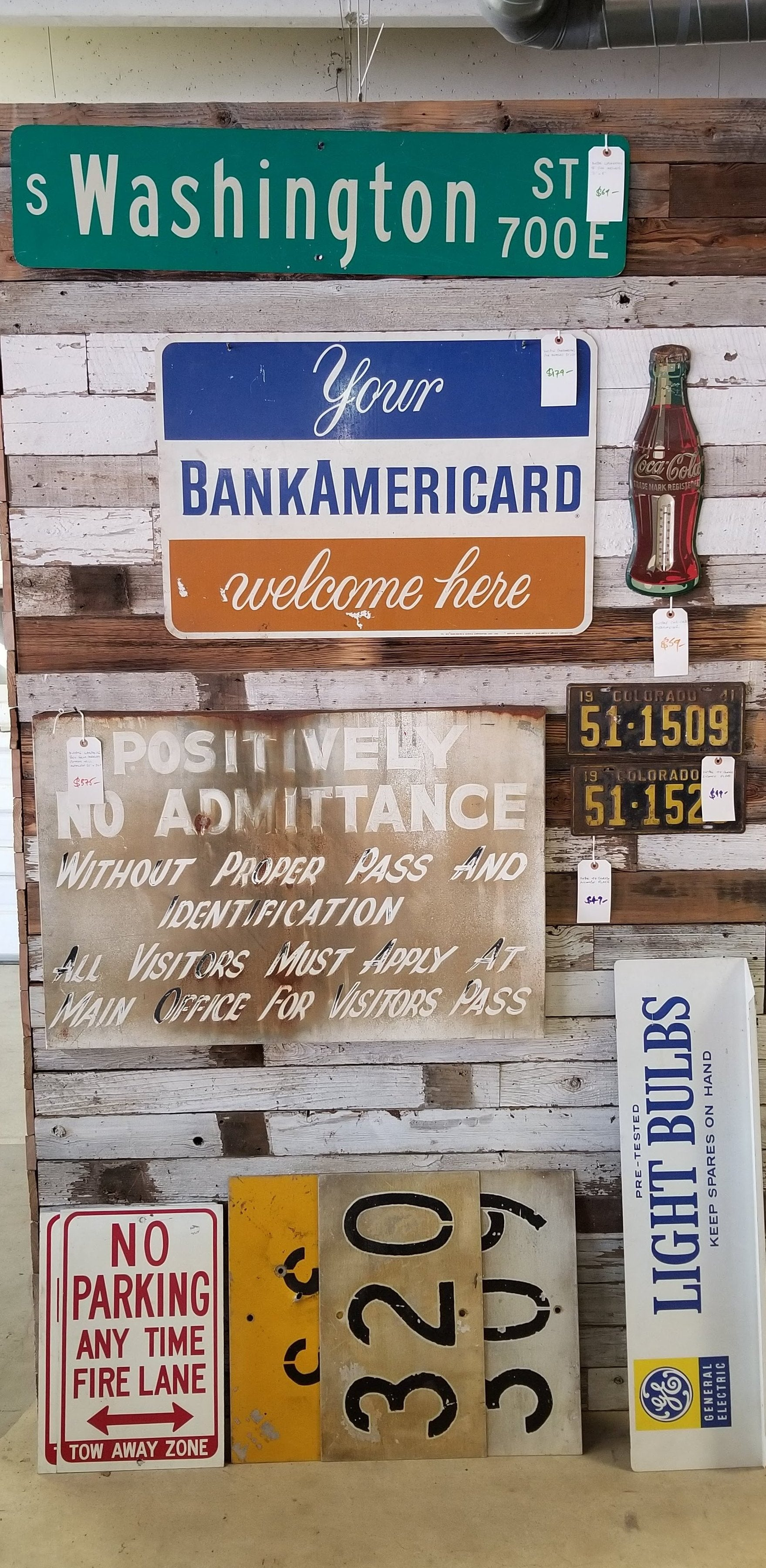 Vintage Warehouse Sign from Mississippi Cotton Mill