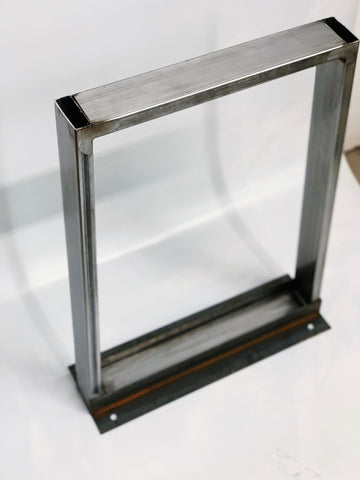 Bench Style Recycled Steel Table Base Legs