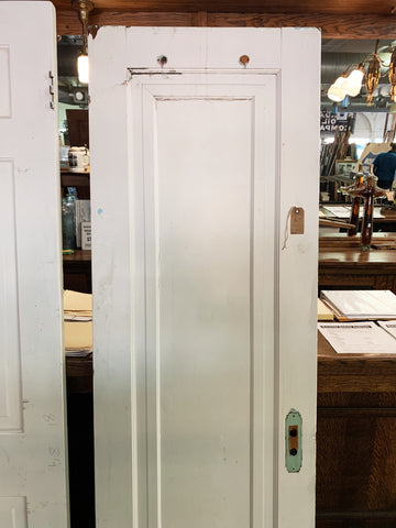 "Antique Solid Wood Single Panel Interior Door  - 77 1/2"" x 23 7/8"""
