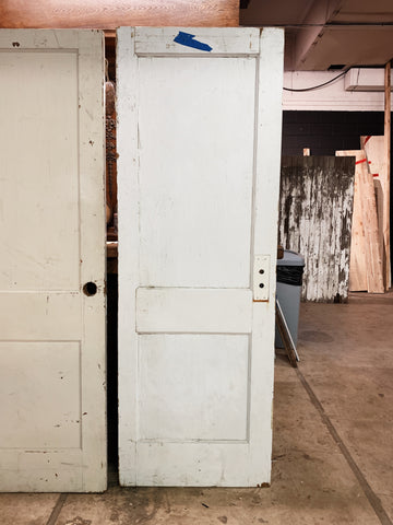 "Antique Solid Wood Two Panel Door - 77"" x 26 3/4"""