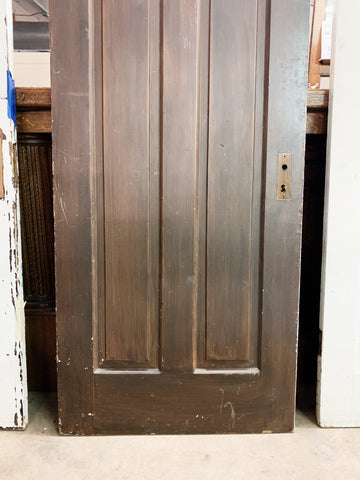 "Antique Solid Wood Four Panel Door - 76"" x 30"""