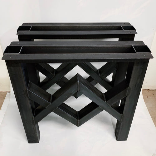 Diamond Recycled Steel Table Base Legs