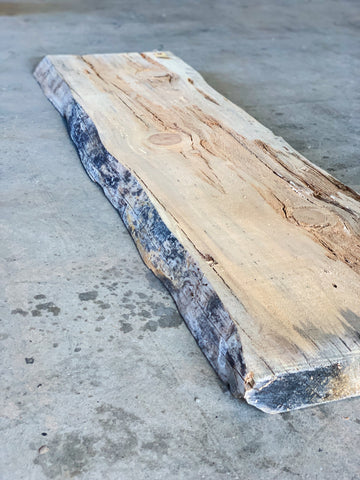 "60"" x 17"" x 2 1/4"" Beetle Kill Pine Live Edge Slab"