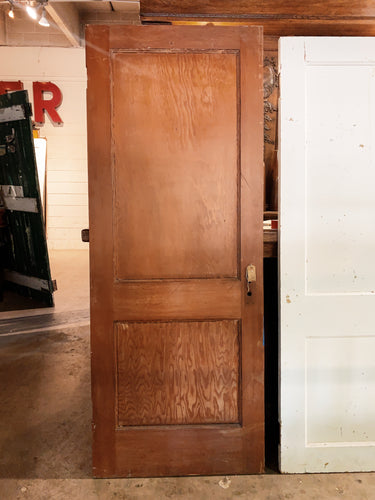 "Antique Solid Wood Two Panel Door - 76 7/8"" x 29 3/4"""
