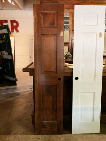 "Antique Solid Wood Two Panel Interior Door  - 80"" x 17 7/8"""