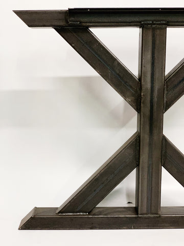 Crisscross Style Recycled Steel Table Base Legs