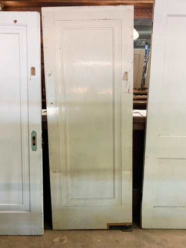 "Antique Solid Wood Single Panel Interior Door  - 78"" x 29 3/4"""