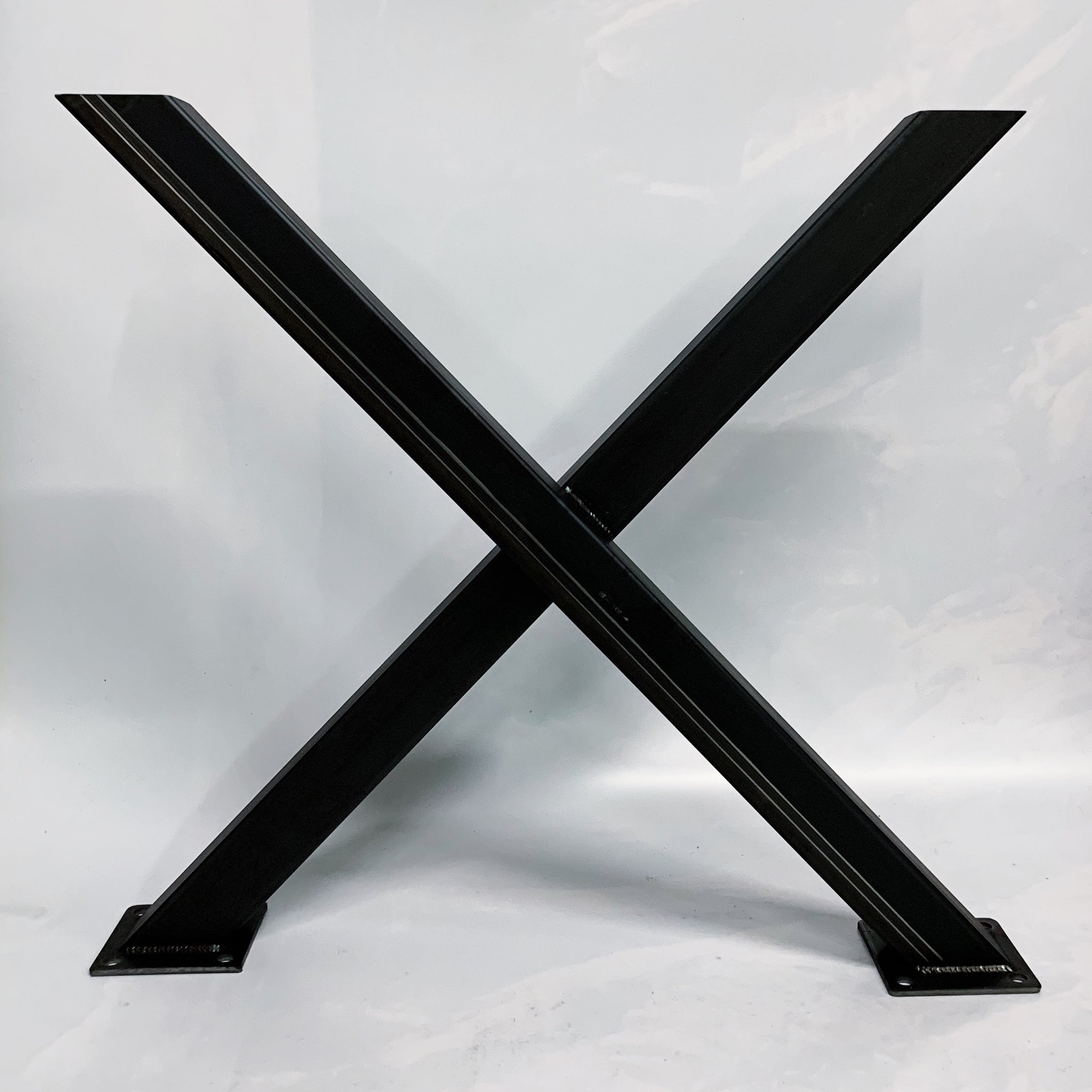 X Style Recycled Steel Table Base Legs