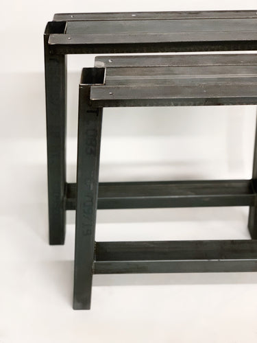 Bar Style Recycled Steel Table Base Legs