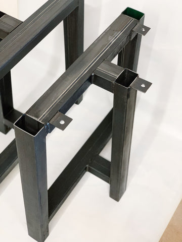 T Style Recycled Steel Table Base Legs