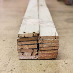 White Accent Wall Covering: Reclaimed Wood Bundles (20 sq ft)