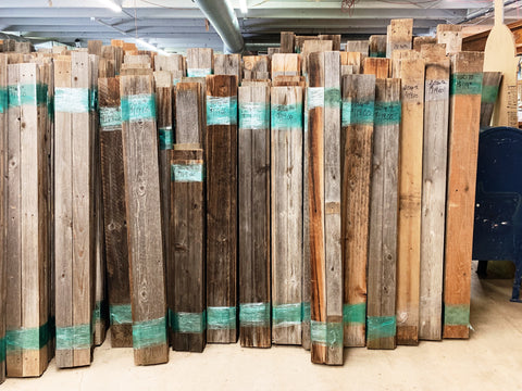 Grey Accent Wall Covering: Reclaimed Wood Bundles (20 sq ft)