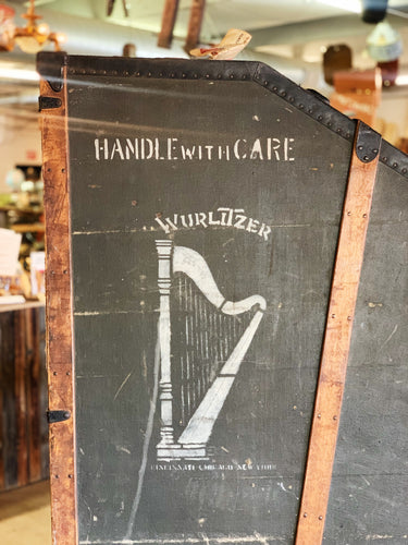 Antique Wurlitzer Harp Trunk